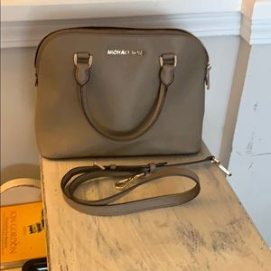 Michael Kors authentic taupe satchel purse
